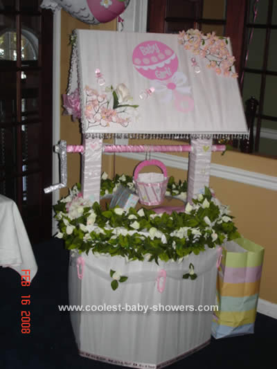 homemade baby shower wishing well baby shower theme