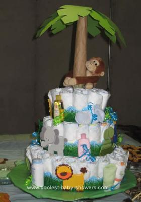 Safari Baby Shower Diaper Cake